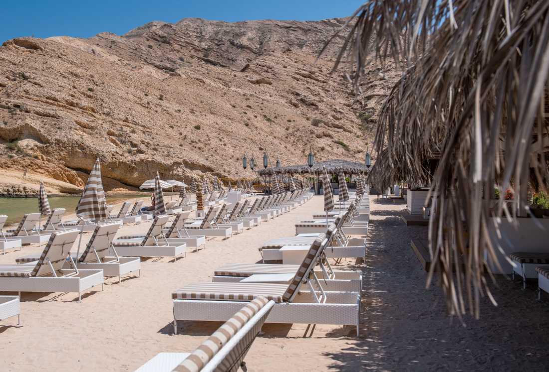Muscat Hills Resort där Avicii bodde.
