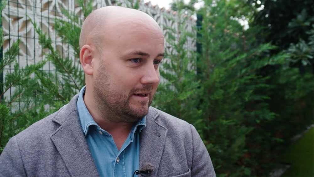 Fredrik Kristensson, mäklare på Carl Alex Partner.