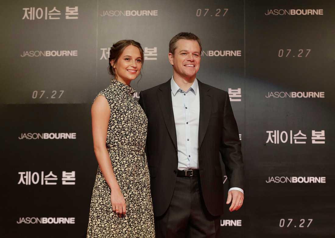 Alicia Vikander och Matt Damon.