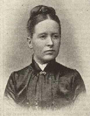 Hedda Andersson, bild från Idun 1896.