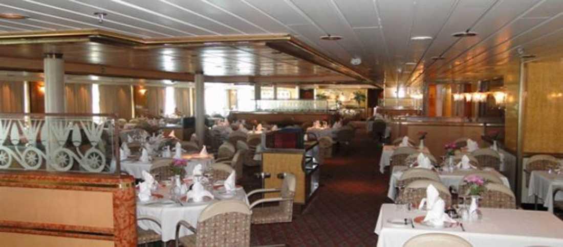 Ocean Gala, en av restaurangerna.