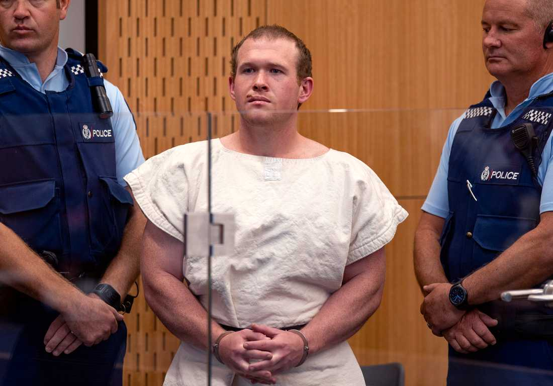 Brenton Tarrant står anklagad för att ha dödat 51 människor. Han misstänks även för terrorbrott. Arkivbild.