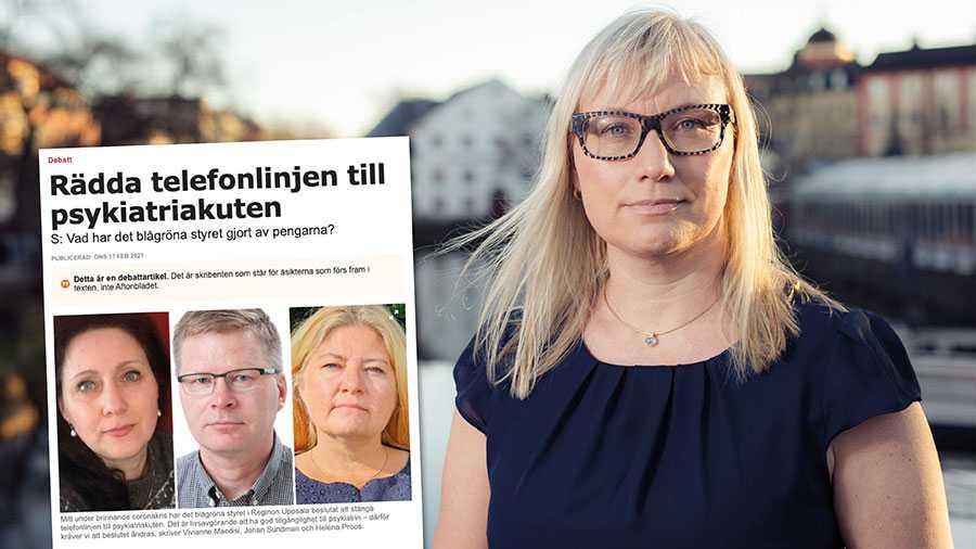 Det är tyvärr en återkommande strategi hos Socialdemokraterna att måla upp en väldigt missvisande bild av aktuella frågor i Region Uppsala för att kunna rikta kritik mot det blågröna styret utifrån denna bild. Replik från Malin Sjöberg Högrell, ordförande för Sjukhusstyrelsen.