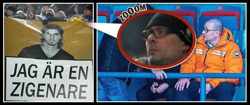 Mannen på den inzoomade bilden är enligt uppgifter till Sportbladet Jonas Galotta - samma man som ser AIK Hockey i orange jacka tidigare i höst.