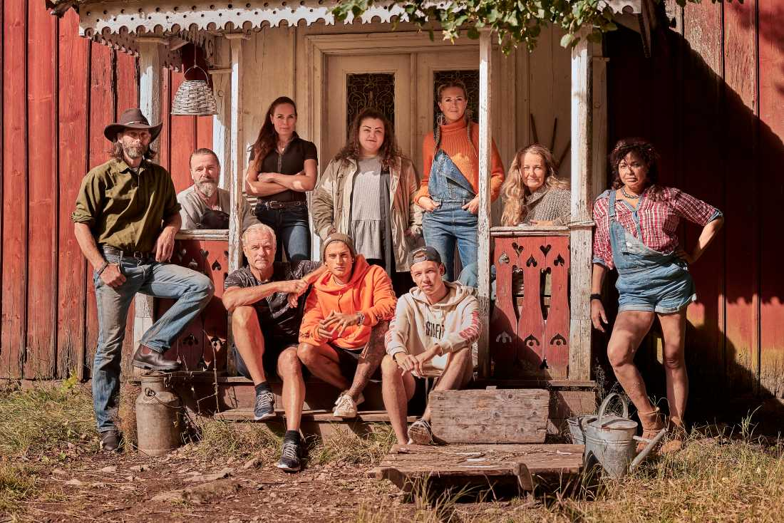 """Deltagarna i förra säsongen av """"Farmen VIP""""."""