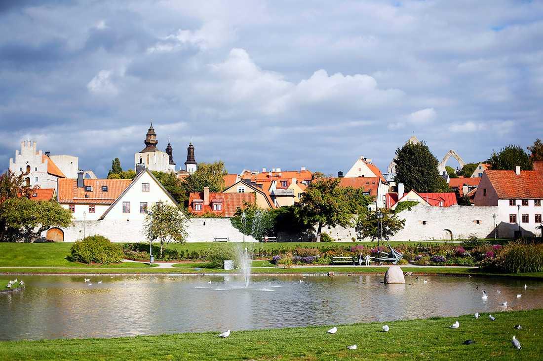 Almedalen i Visby.