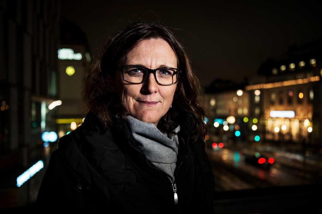 EU-kommissionären Cecilia Malmström om världens oro  över USA:s nya president