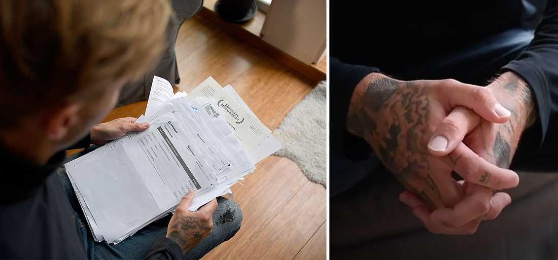 Hemma hos William, 28, och hans familj ligger kravbrev och avier i en stor bunt efter att hans ex flickvän visat sig vara en bedragare. Hans polisanmälan ligger i kö hos polisen – som inte har resurser att ta tag i ärendet än.