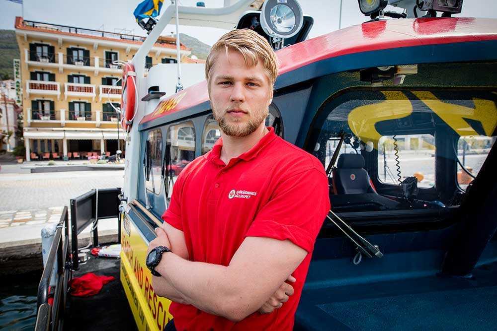 Johannes Jovlunden, 23, sjöräddare.