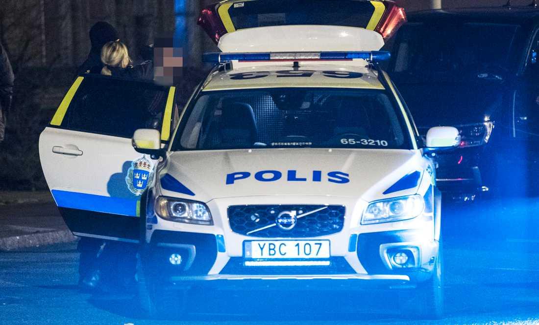 Polisen griper en person i södra Malmö.