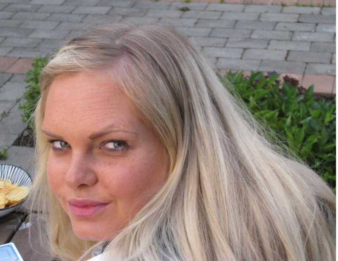 """Lina Hägg synade bluffen men oroas ändå: """"Det kanske finns de som går på en sån här grej""""."""