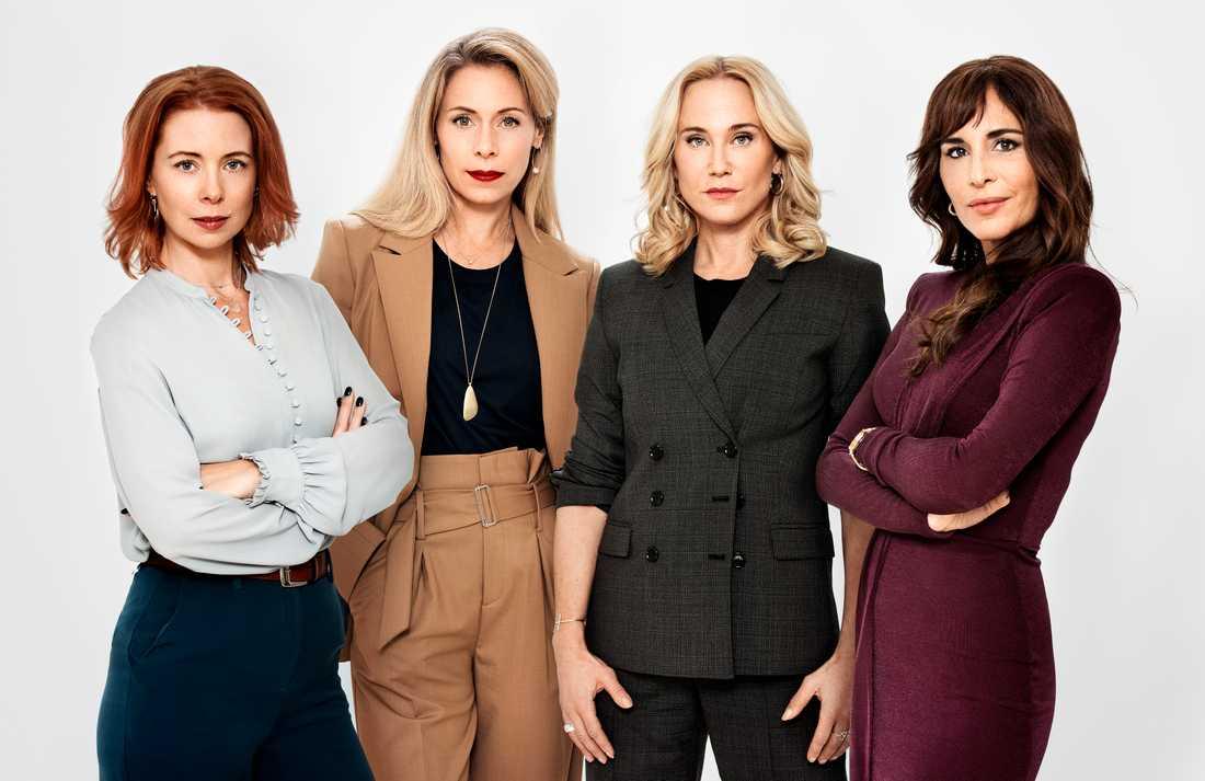 Julia Dufvenius, Eva Röse, Anja Lundqvist och Alexandra Rapaport.