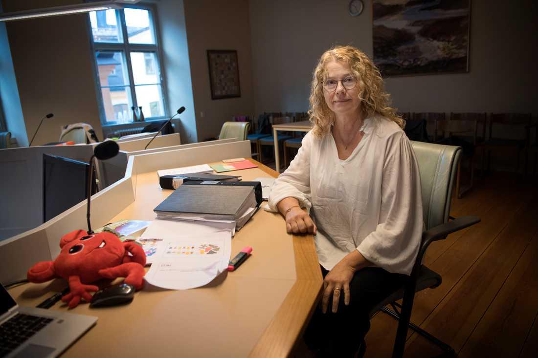 """Anneli Tisell, vd Hatten förlag var nervös inför förhandlingarna: """"Har aldrig suttit i en rättssal förut""""."""