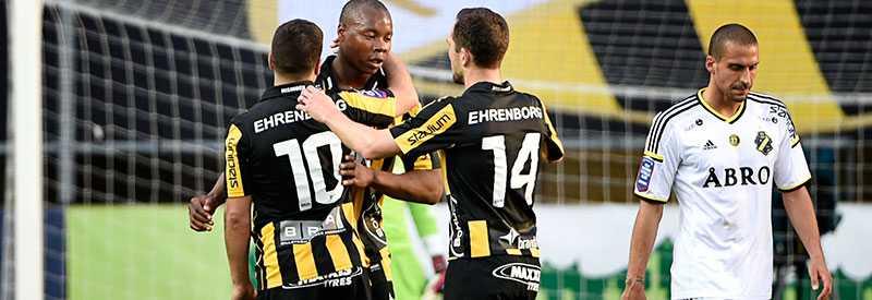 Carlos Strandberg kvitterade till 2-2 mot AIK.