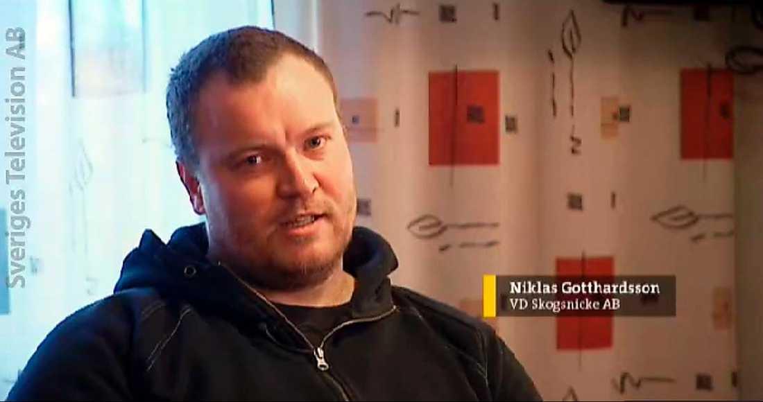 Företagaren Niklas Gotthardsson.