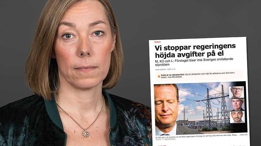 M, KD och L vill att fälla regeringens förslag om elnätsföretagens intäkter. Risken är att man med detta försenar en mängd investeringar i elnäten runt om i landet, skriver Pernilla Winnhed, vd för Energiföretagen Sverige.