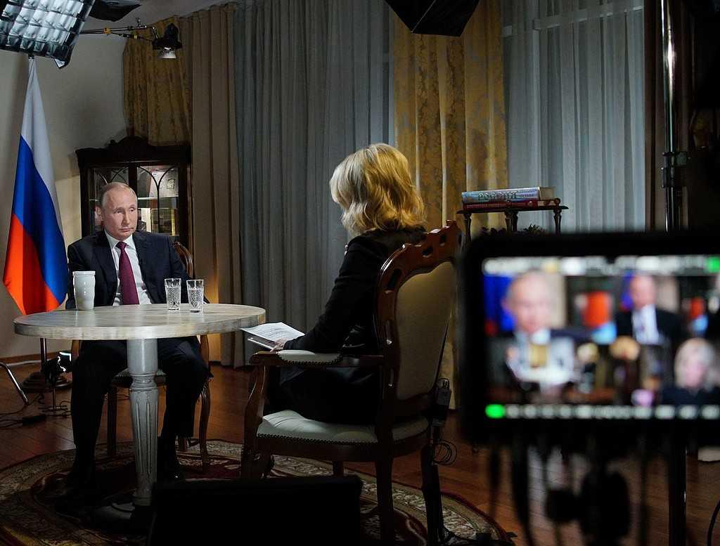 Rysslands president Vladimir Putin i en intervju med kanalen NBC.
