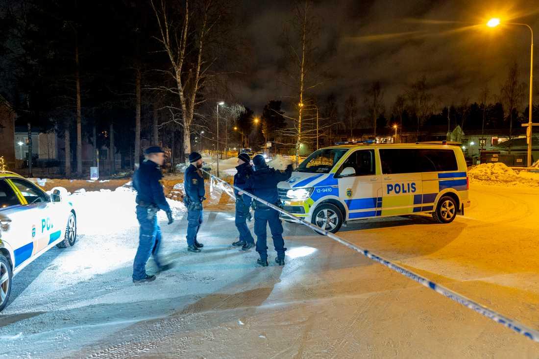 En person mördades i Ersboda i Umeå på onsdagskvällen.