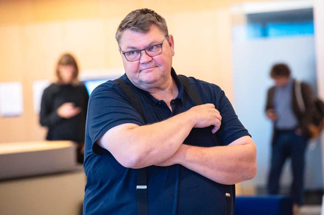 Peter Lundgren vid rättegången i Jönköpings tingsrätt. Nu överklagas den friande domen om sexuellt ofredande. Arkivbild.