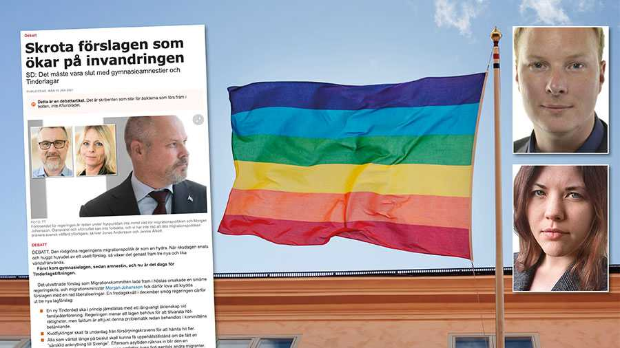 Det ändringsförslag som regeringen lagt fram har marginella effekter för helheten, men kan vara livsavgörande för de hbtq-personer som det berör. Replik från Anders Österberg och Emelie Stark.