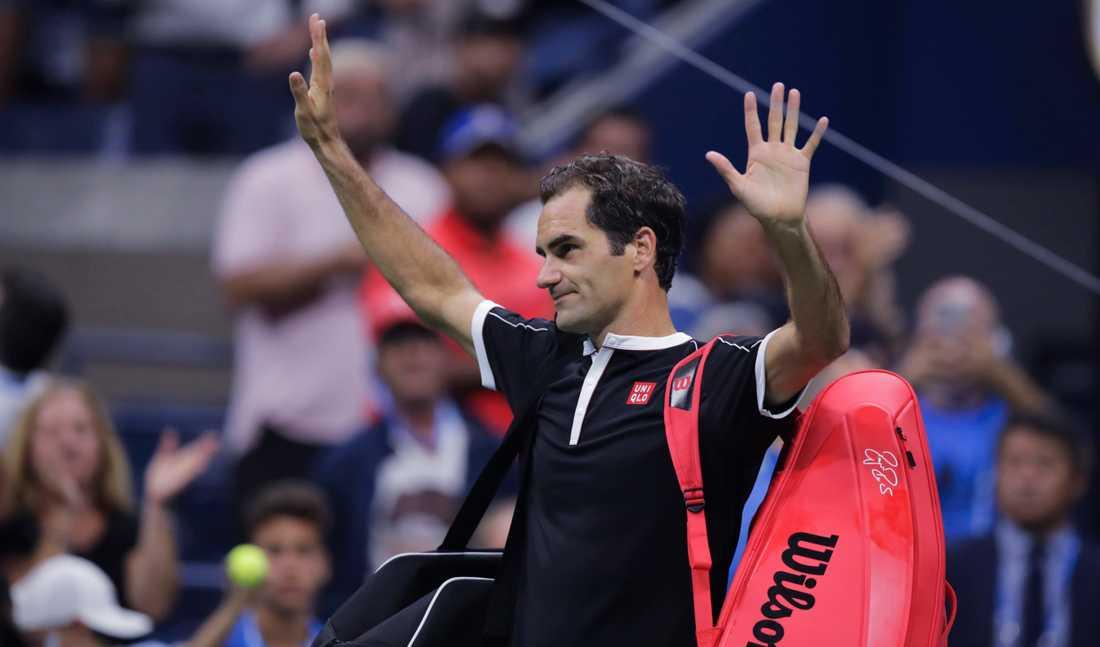 Roger Federer tackar publiken