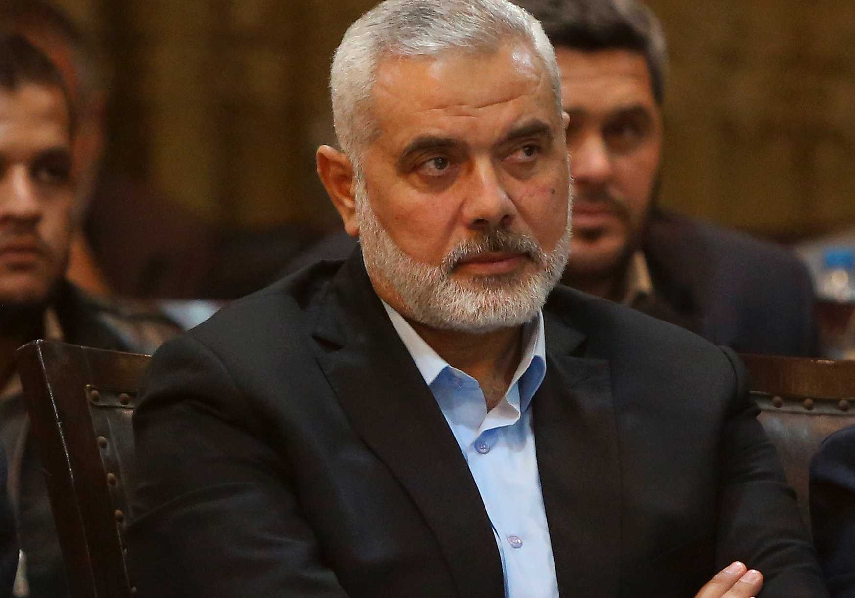 Hamasledaren Ismail Haniyeh.