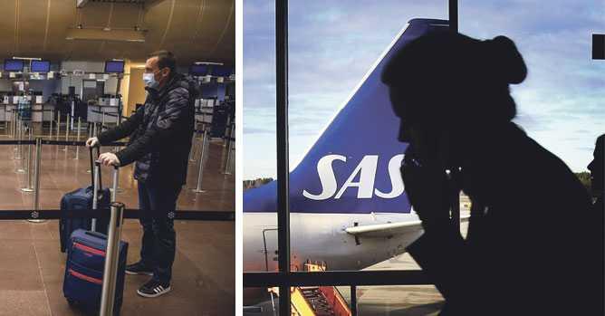 Så ska SAS tvinga sina passagerare att bära munskydd