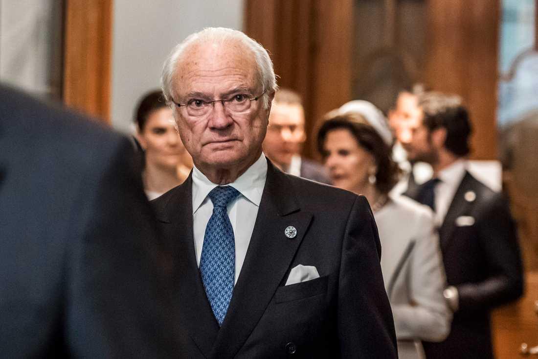 Kung Carl XVI Gustaf vid riksdagens öppnande