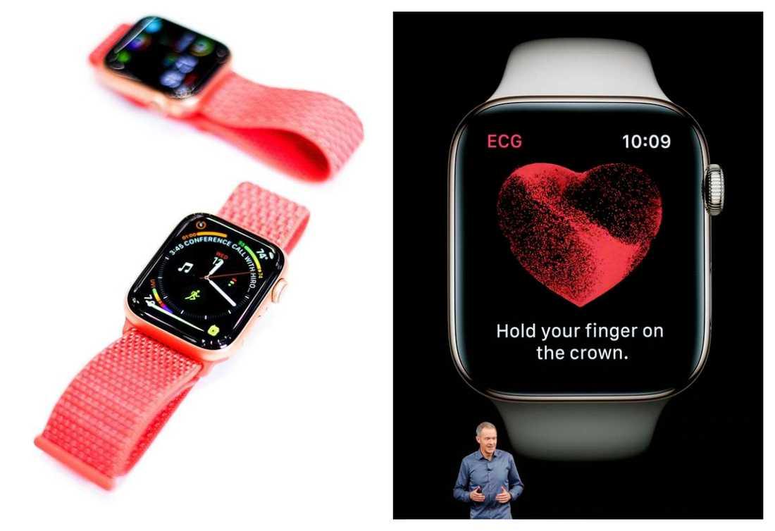Apple Watch Series 4 håller koll på hjärtat.