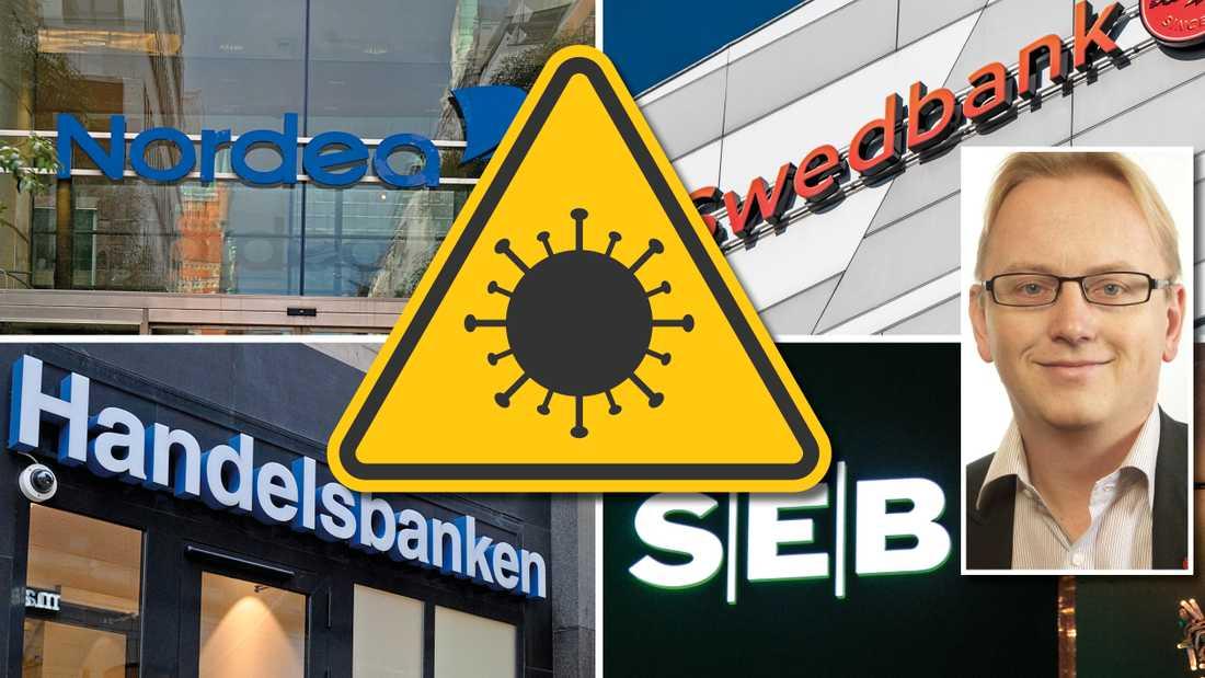 De upp till 500 miljarder som bankerna nu får låna måste användas för att stötta i grunden livskraftiga företag från att gå omkull. Inte till utdelningar eller bonusar, skriver finansutskottets ordförande Fredrik Olovsson.