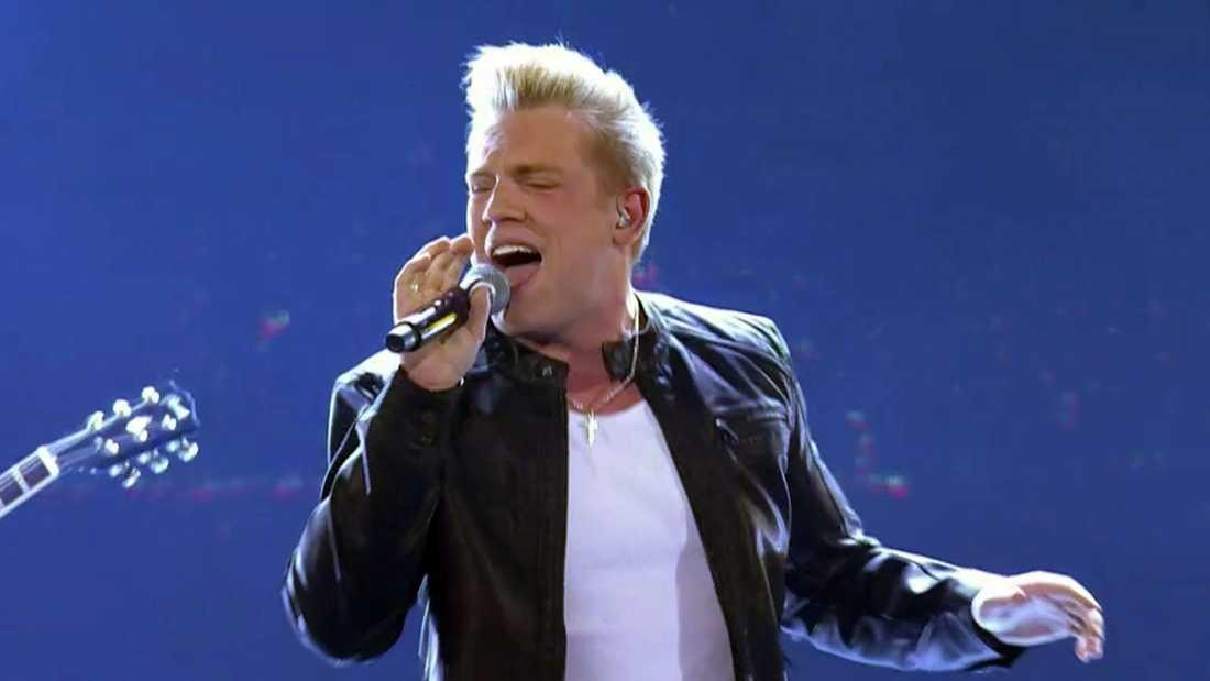 """Gottfrid Krantz sjunger """"I'm in the band""""."""