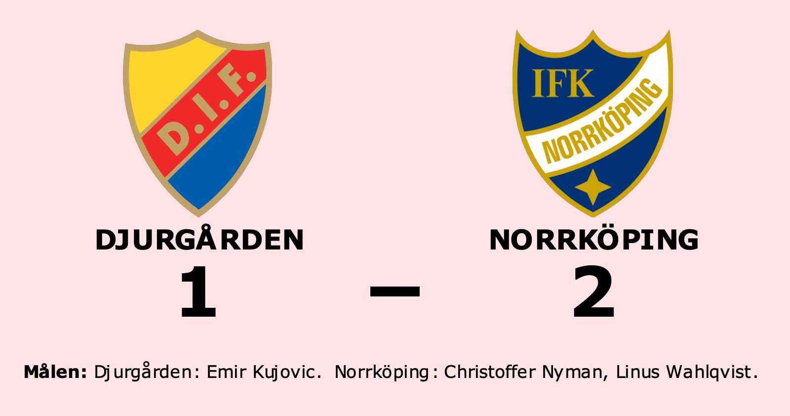 Norrköping vann på bortaplan mot Djurgården