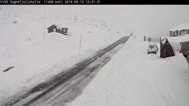 Snö i Norge.