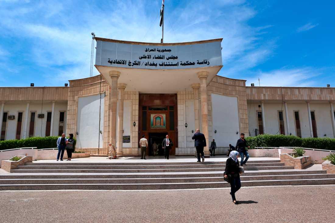 En internationell tribunal är tänkt som ett komplement till lokala domstolar. Här syns en domstol i Iraks huvudstad Bagdad. Arkivbild.