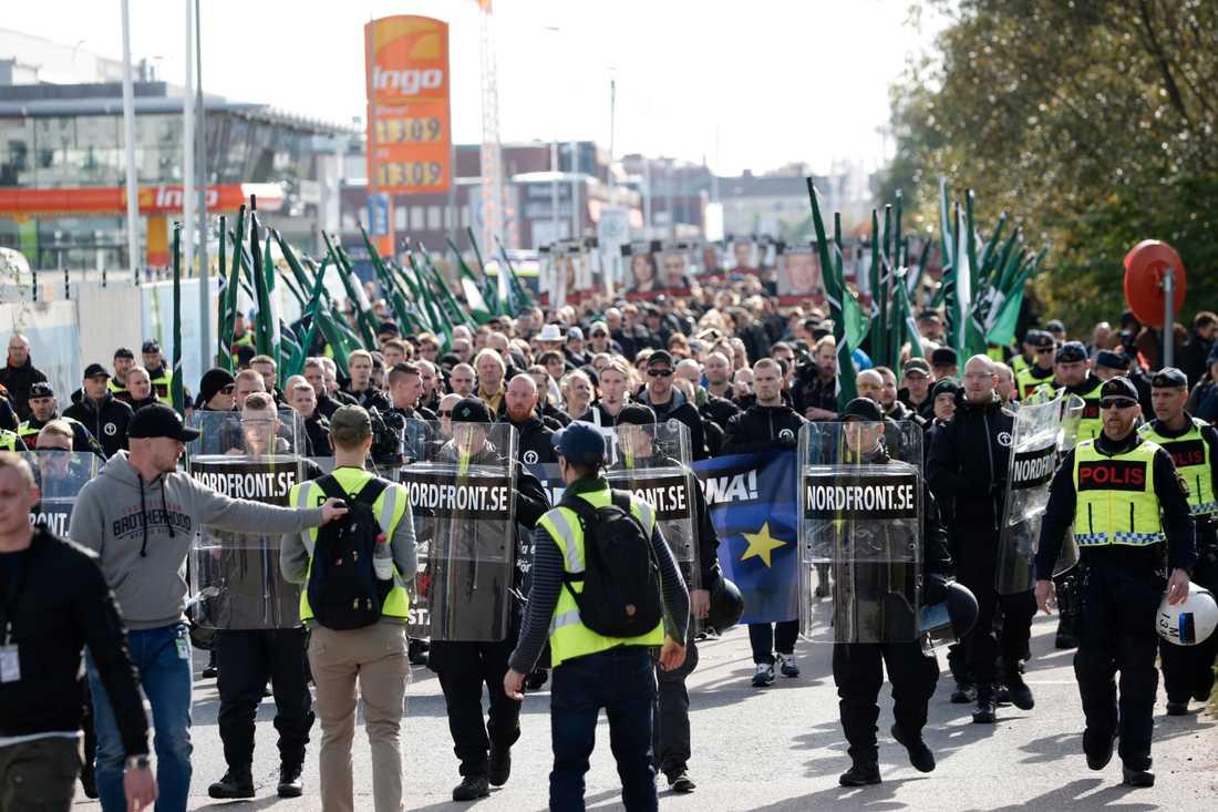 NMR:s demonstration i Göteborg.
