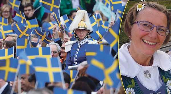 """Karin Olofsdotter tycker det är hög tid att skriva om andra versen i nationalsången, till mer inkluderande: """"Sveriges nuvarande kung har ett valspråk som lyder För Sverige – i tiden. Skulle inte det kunna vara ett förhållningssätt för en nationalsång också?"""""""