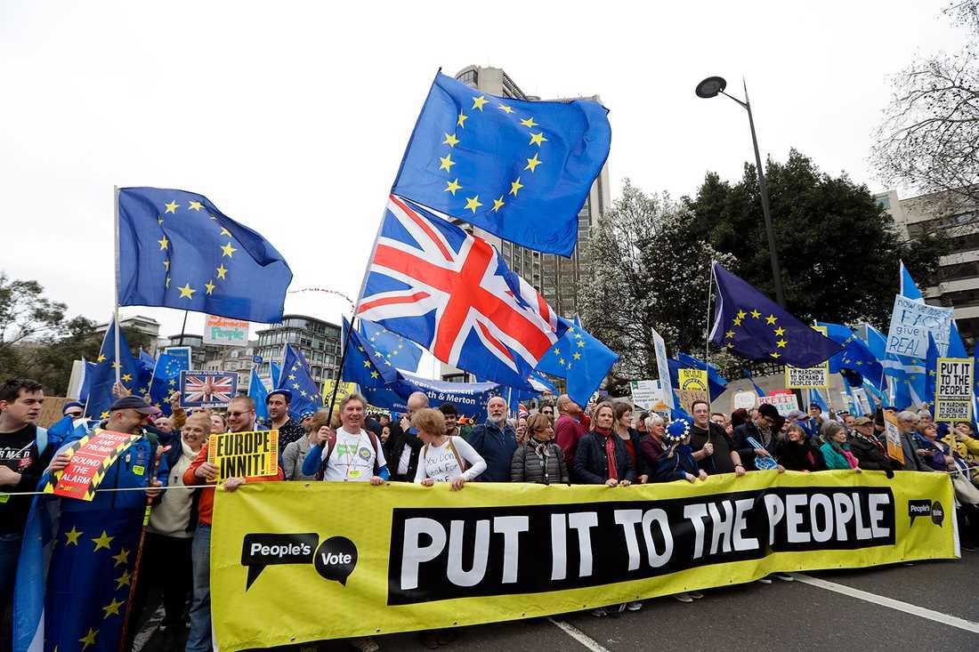 Demonstration i London.