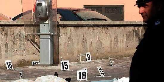 Två av de i snitt hundra mordoffer per år som anses vara Camorra-relaterade.