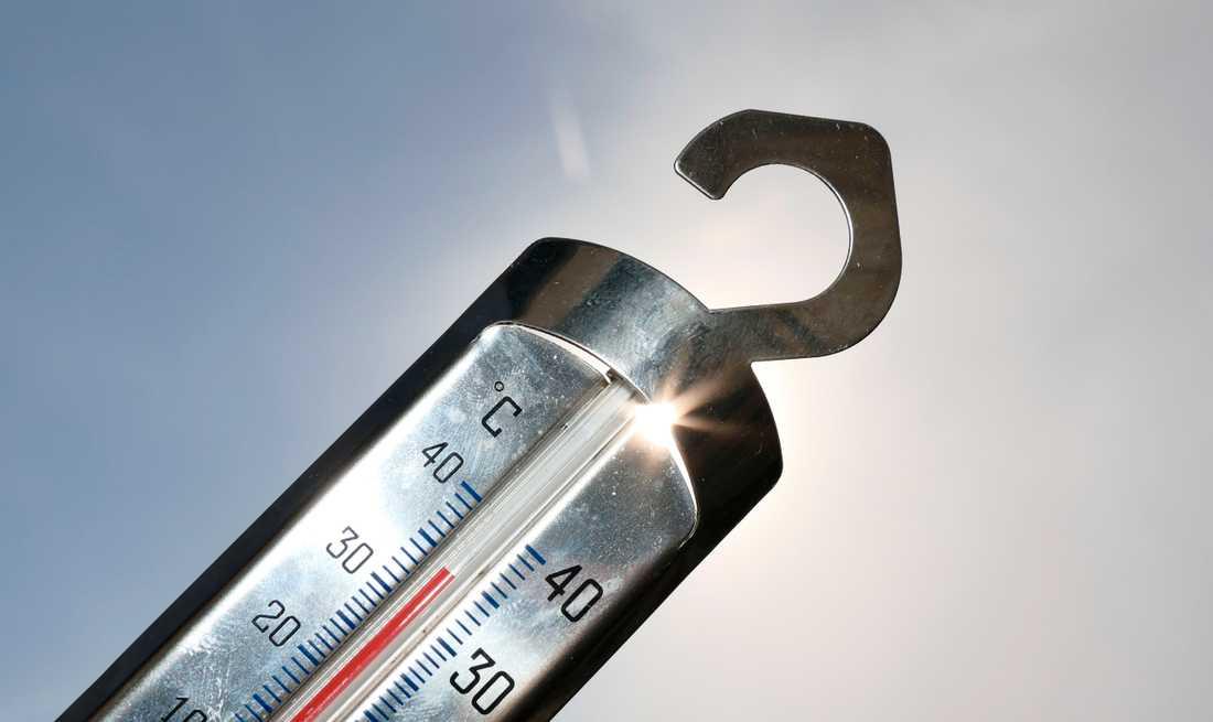 Temperaturen varierade kraftigt i landet under juli, med både rekordvärme och rekordkyla. Arkivbild.