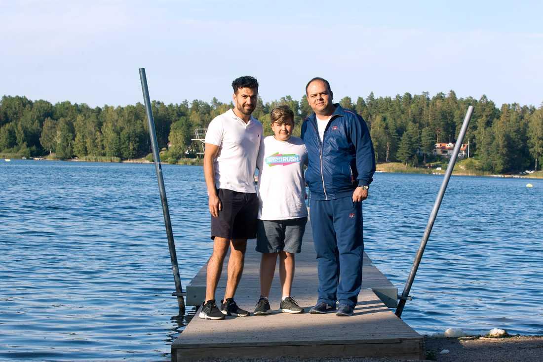 Reza Sattari, sonen Kevin Sattari och vännen Abolfazl Milani.