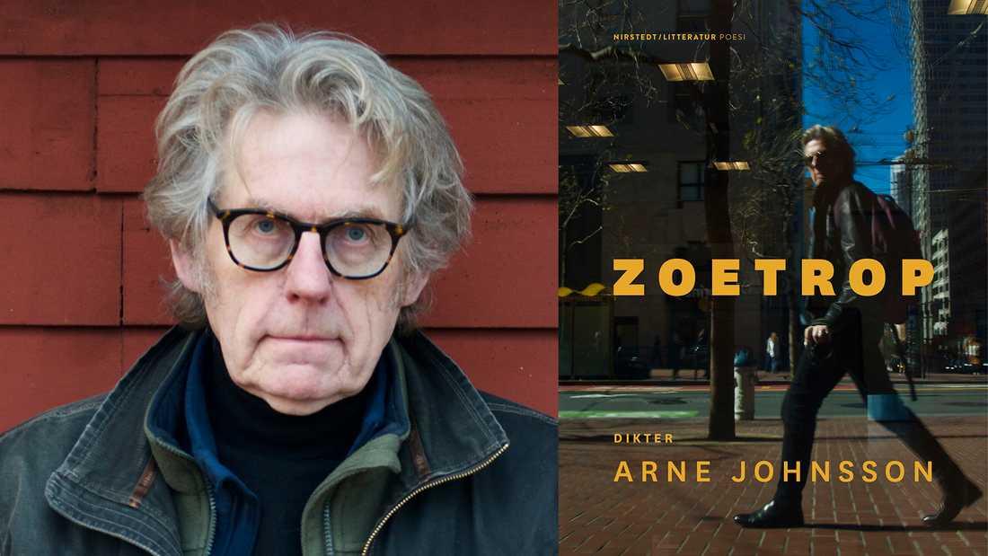 """Arne Johnsson (född 1950) utkommer med """"Zoetrop"""", den första ditksamlingen sedan 2012. """"Diktjaget tar frikostigt in sin omgivning, såväl människor som platser. Det är inget slutet och självupptaget jag, utan ett jag som står öppet mot världen"""" skriver Jenny Högström."""