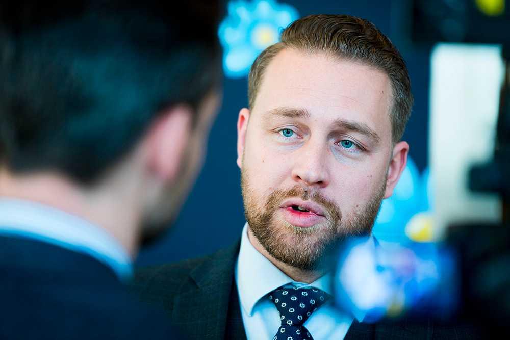 Sverigedemokraternas gruppledare Mattias Karlsson