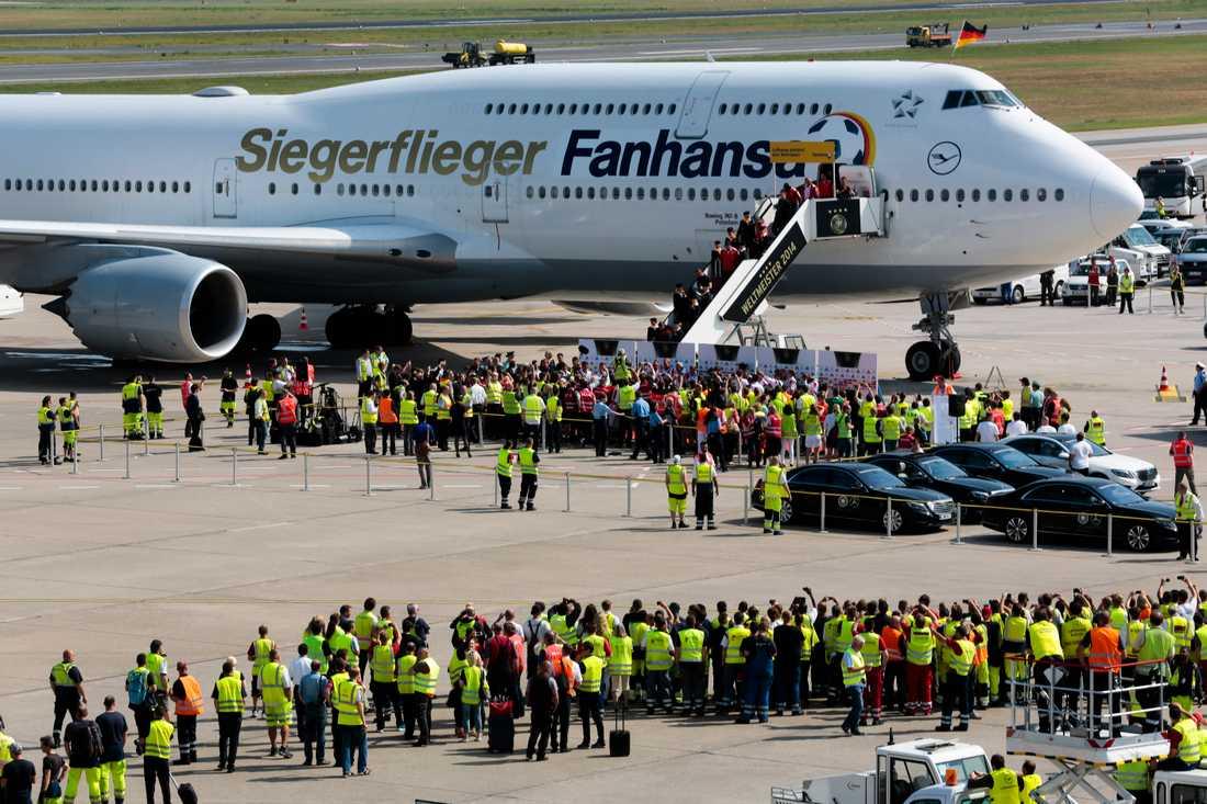 En Boeing 747 på land. Arkivbild.