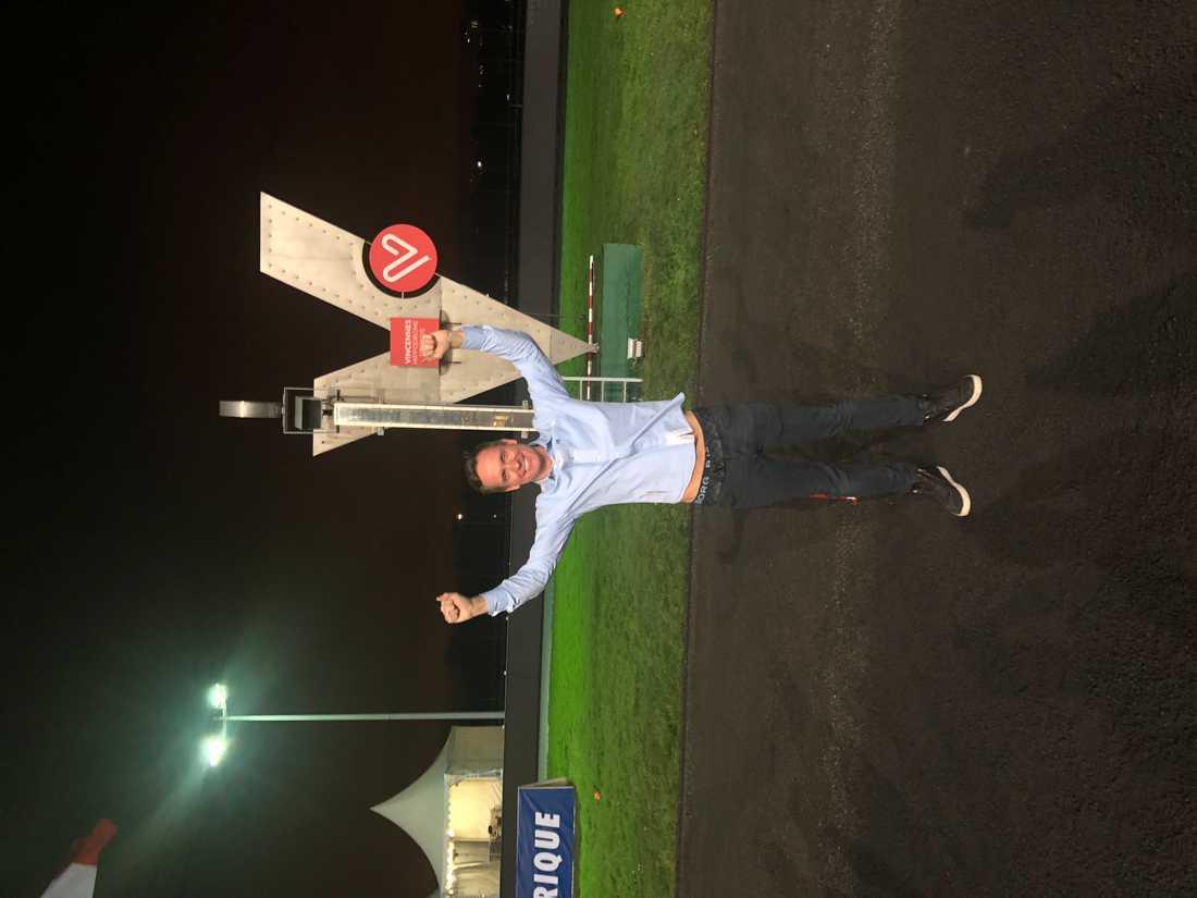 Björn Goop framför Vincennes mållinje sent på söndagskvällen.