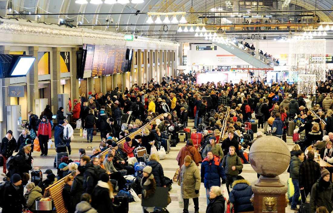 Stockholms central på tisdagseftermiddagen.