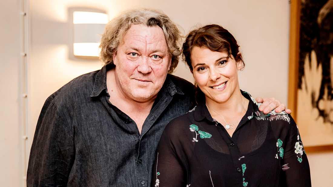 """Leif Andrée och Vanna Rosenberg står på scen ihop i höst i """"Våra drömmars stad""""."""