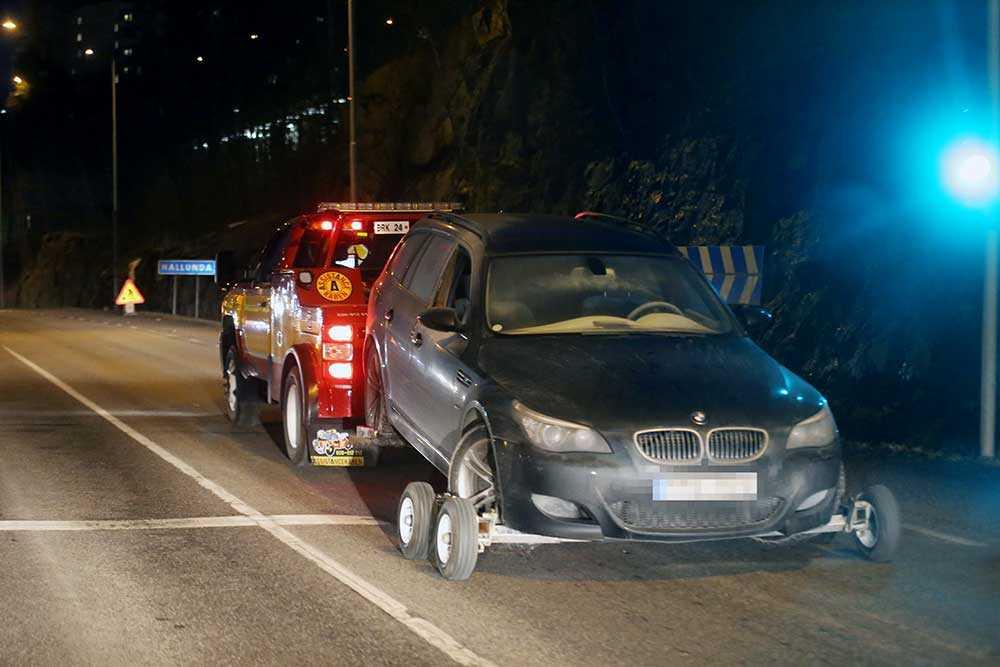 Under onsdagskvällen påträffades flyktbilen från rånet.