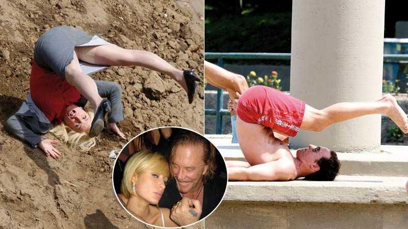 Upp-och-nedvända världen Amy Poehler kanar ned för en slänt, Matthew McConaughey pumpar upp kroppen i Rio de Janeiro och Paris Hilton firar sin födelsedag med Mickey Rourke.