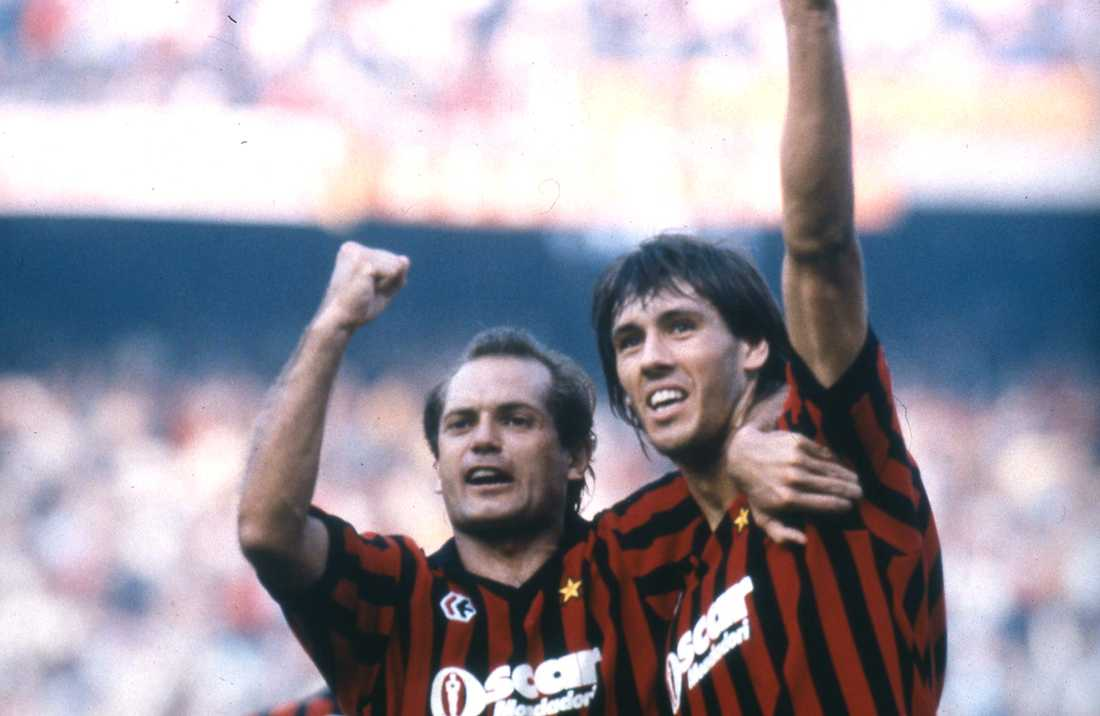 Tillsammans med Mark Hateley under tiden i Milan