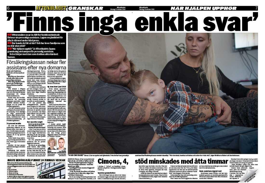 2016 skrev Aftonbladet om Cimon första gången.